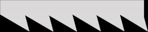 Verzahnung Japansäge: Dreiecksverzahnung