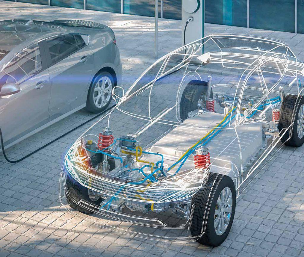 Eine anspruchsvolle Aufgabe: Die Reparatur von E-Fahrzeugtypen.